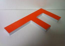 lettre adhésif pvc orange
