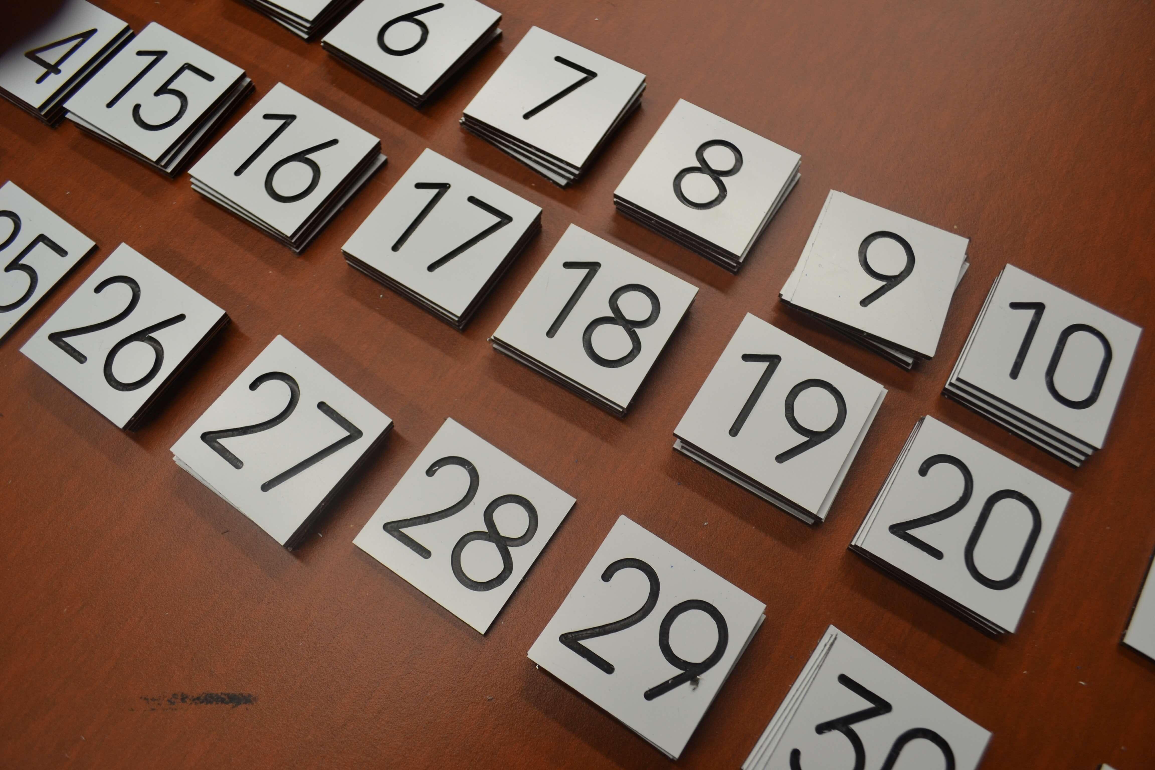 gravure dibond chiffres