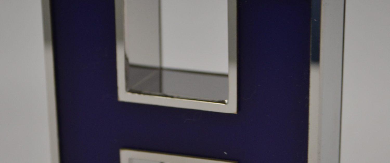 lettre boîtier lumineux inox